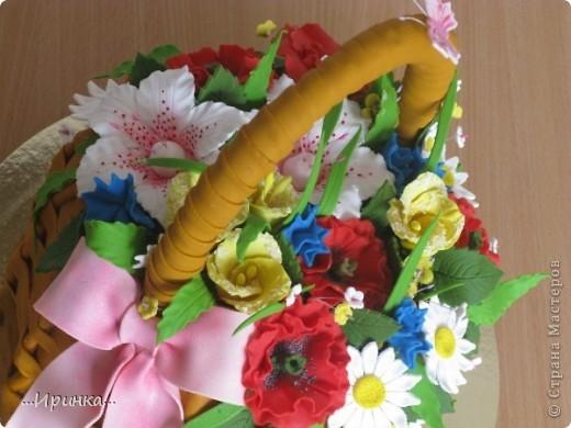 """торт """"Корзина с цветами""""... фото 2"""