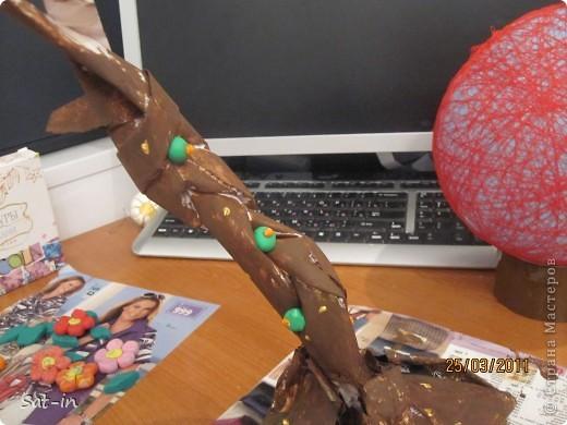 Это моё дерево. Я его делала 2 дня с перерывами, а если без перерывов то можно и за день справиться.  фото 36