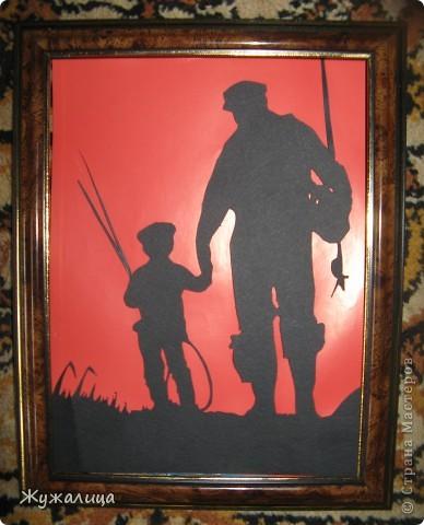 Дедушке, любителю рыбалки! Делала по фотографии из интернета.  фото 1