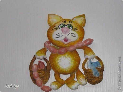 Котяра сделан по мотивам кота с авоськами Марины Архиповой http://stranamasterov.ru/node/86529 фото 1