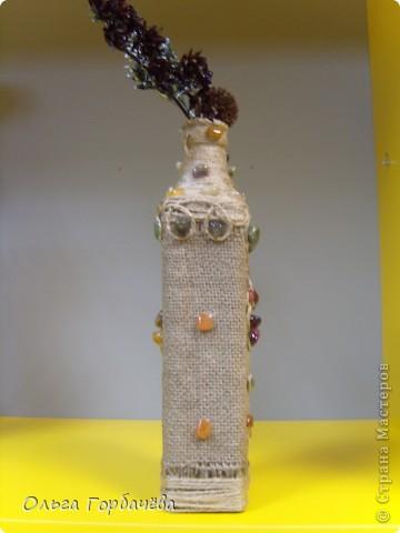 Очень понравился декор бутылок тканью или чулком. фото 7