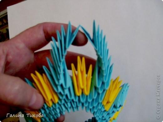 Поделка изделие Оригами китайское модульное Жар-птица Мастер-класс Бумага фото 11