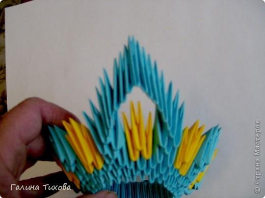 Поделка изделие Оригами китайское модульное Жар-птица Мастер-класс Бумага фото 12
