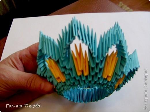 Поделка изделие Оригами китайское модульное Жар-птица Мастер-класс Бумага фото 14