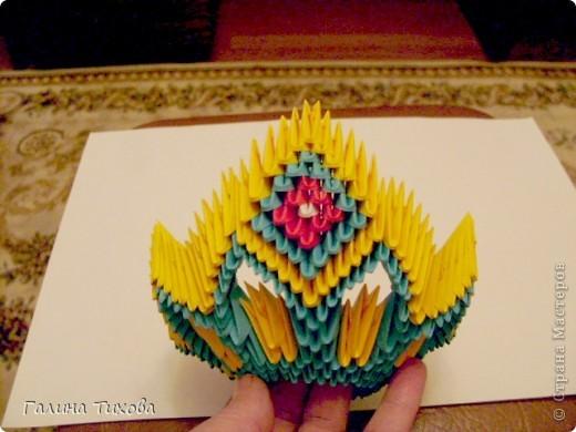 Поделка изделие Оригами китайское модульное Жар-птица Мастер-класс Бумага фото 23