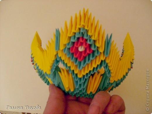 Поделка изделие Оригами китайское модульное Жар-птица Мастер-класс Бумага фото 26