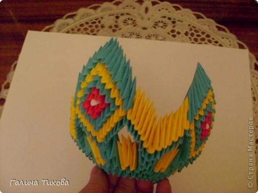 Поделка изделие Оригами китайское модульное Жар-птица Мастер-класс Бумага фото 29