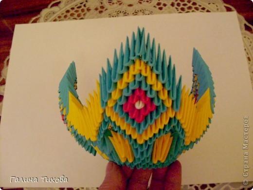 Поделка изделие Оригами китайское модульное Жар-птица Мастер-класс Бумага фото 30