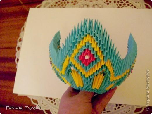 Поделка изделие Оригами китайское модульное Жар-птица Мастер-класс Бумага фото 32