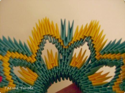 Поделка изделие Оригами китайское модульное Жар-птица Мастер-класс Бумага фото 34