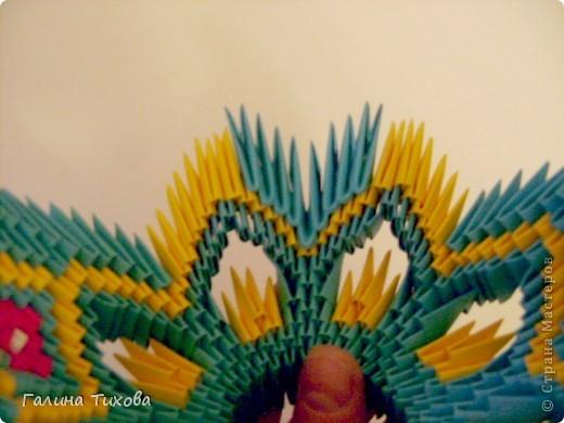 Поделка изделие Оригами китайское модульное Жар-птица Мастер-класс Бумага фото 35