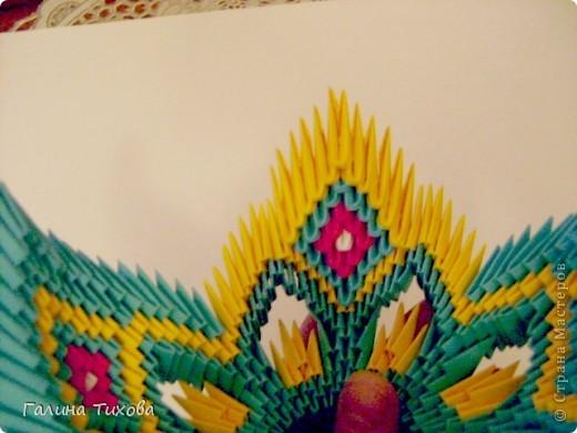 Поделка изделие Оригами китайское модульное Жар-птица Мастер-класс Бумага фото 36