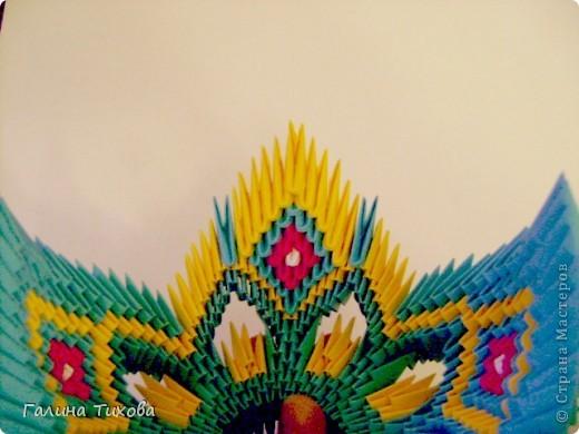 Поделка изделие Оригами китайское модульное Жар-птица Мастер-класс Бумага фото 37