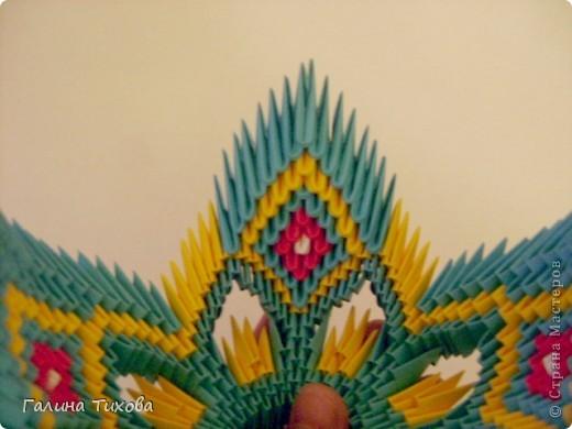 Поделка изделие Оригами китайское модульное Жар-птица Мастер-класс Бумага фото 38