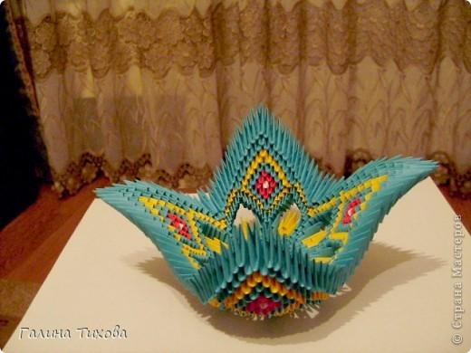 Поделка изделие Оригами китайское модульное Жар-птица Мастер-класс Бумага фото 40