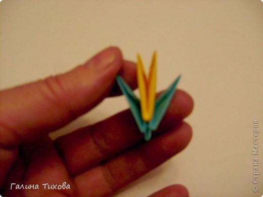 Поделка изделие Оригами китайское модульное Жар-птица Мастер-класс Бумага фото 47