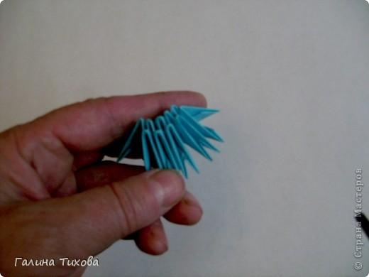 Поделка изделие Оригами китайское модульное Жар-птица Мастер-класс Бумага фото 5