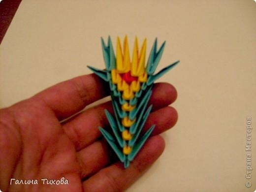 Поделка изделие Оригами китайское модульное Жар-птица Мастер-класс Бумага фото 53