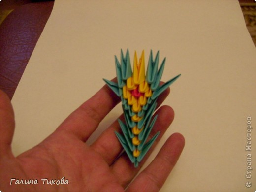 Поделка изделие Оригами китайское модульное Жар-птица Мастер-класс Бумага фото 54