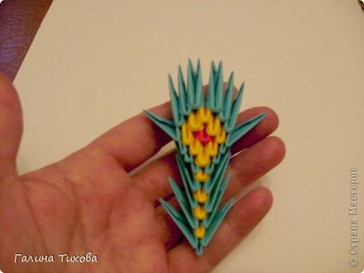 Поделка изделие Оригами китайское модульное Жар-птица Мастер-класс Бумага фото 55