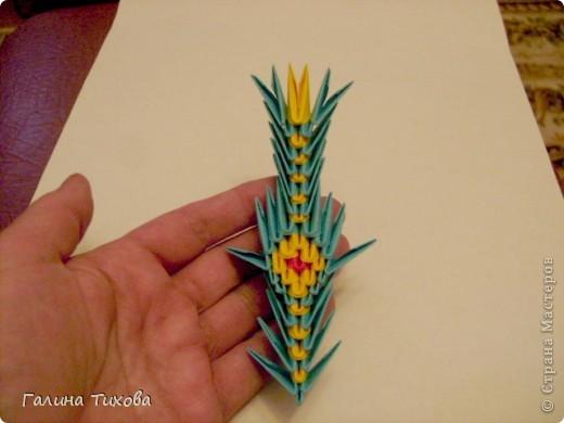 Поделка изделие Оригами китайское модульное Жар-птица Мастер-класс Бумага фото 56