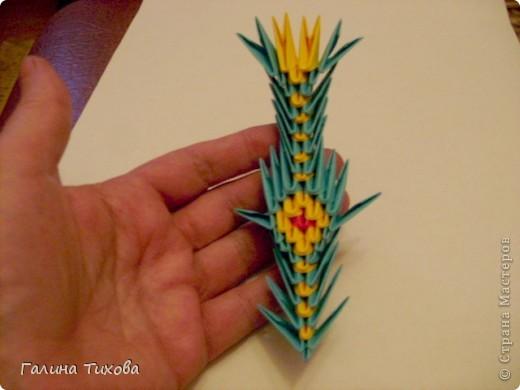 Поделка изделие Оригами китайское модульное Жар-птица Мастер-класс Бумага фото 57