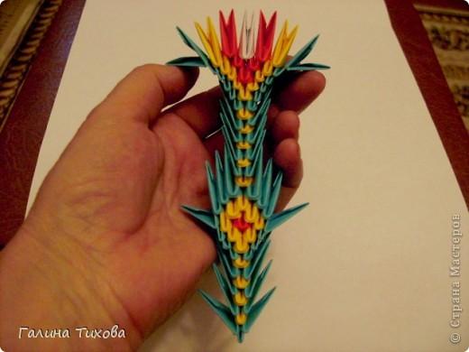 Поделка изделие Оригами китайское модульное Жар-птица Мастер-класс Бумага фото 60