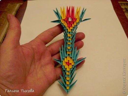 Поделка изделие Оригами китайское модульное Жар-птица Мастер-класс Бумага фото 61