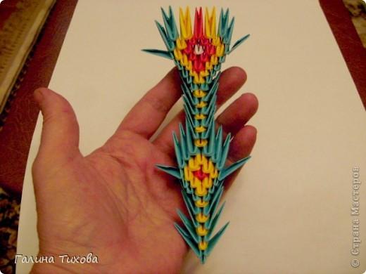 Поделка изделие Оригами китайское модульное Жар-птица Мастер-класс Бумага фото 62
