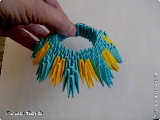 Поделка изделие Оригами китайское модульное Жар-птица Мастер-класс Бумага фото 10