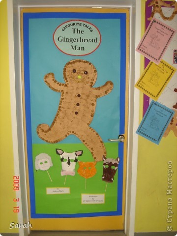 'We're Going on a Bear Hunt' story - one of my favourite stories. I wonder if there is a Russian translation of this book? This is our new book cover, the size of the classrom door. It took us 2-3 days to prepare the different parts of the display. фото 3