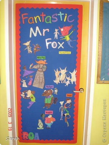 'We're Going on a Bear Hunt' story - one of my favourite stories. I wonder if there is a Russian translation of this book? This is our new book cover, the size of the classrom door. It took us 2-3 days to prepare the different parts of the display. фото 4