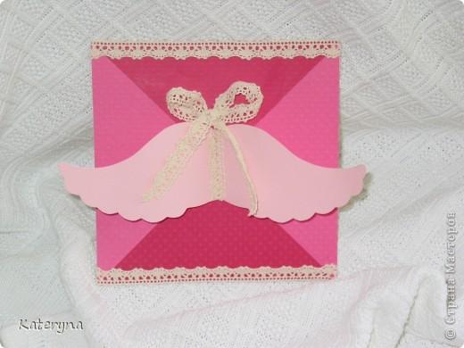 Вот такой получилась у меня окрытка на Крестины для маленькой девочки Танюши. фото 3