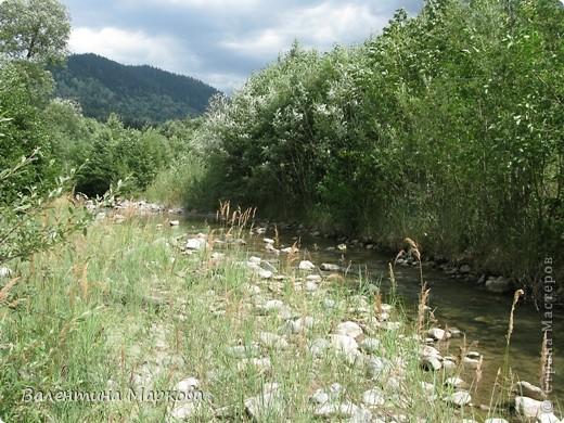 Несколько лет в конце июля-начале августа мне удается провести недельку в горах Карачаево-Черкессии.Прожить несколько дней в палатке под огромной сосной на берегу быстрой горной речки Лабы-это заряд энергии, красоты, позитива на целый год. У меня уже большой архив фотографий. Поделюсь я с Вами только пейзажами.На фотографиях не будет людей, потому что,  в принципе, в тех местах,где мы отдыхаем их нет(за исключением таких же сумасшедших, влюбленных в горы).Добираться к той заветной поляне нам приходится около 4-х часов по горной дороге, а протяженность той дороги всего 70 км. Этоогромный выброс адреналина, но это того стоит. Заинтриговала, тогда...ПОЕХАЛИ!  фото 2