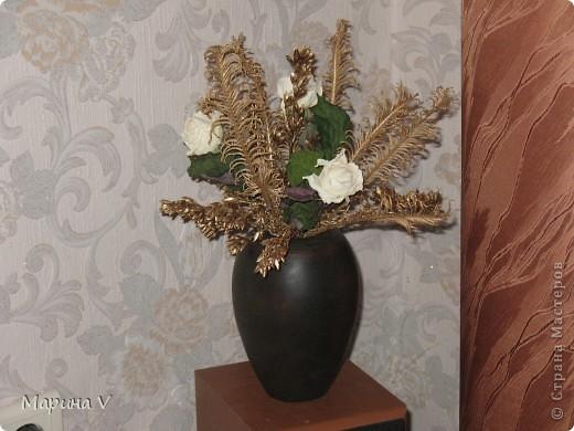Этот букет я посвящаю Ольге Горбачевойhttp://stranamasterov.ru/user/67635,потому как,глядя на ее работы,я убедилась еще раз,что все гениальное просто и что красота действительно валяется у нас под ногами!   фото 5