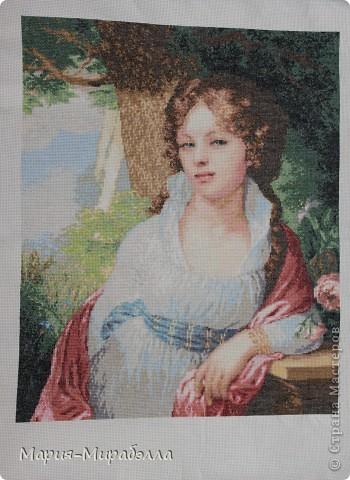 Лопухина Любовь Александровна Вышивка и вышивание Портрет Лопухиной Вышивка.  37,5х30,5 2007.