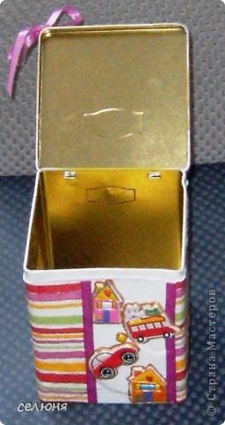 Вот надекупажила коробочку из-под сока. фото 6