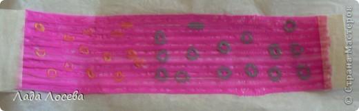 Картина из коктейльных трубочек, которые были проглажены через вощёную бумагу  фото 6