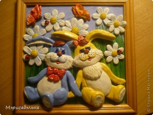 Идею этих зайцев навеял мне рисунок на обыкновенной детской пеленке. фото 1