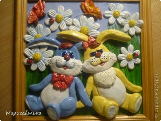 Идею этих зайцев навеял мне рисунок на обыкновенной детской пеленке. фото 5