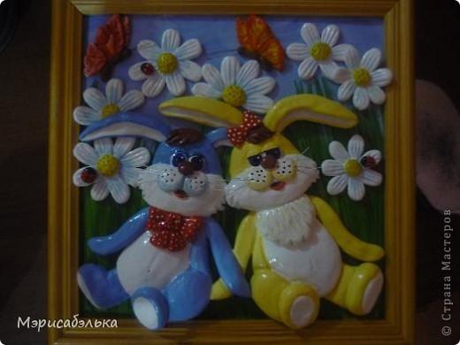 Идею этих зайцев навеял мне рисунок на обыкновенной детской пеленке. фото 6
