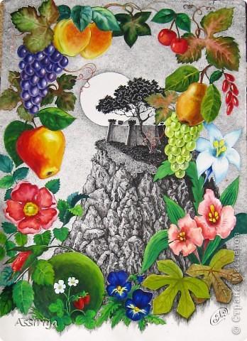 Цветы, фрукты, замок... фото 1