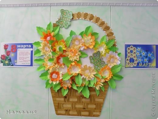 Корзина с цветами. фото 1