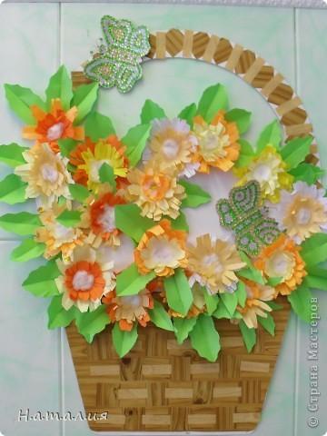 Корзина с цветами. фото 2