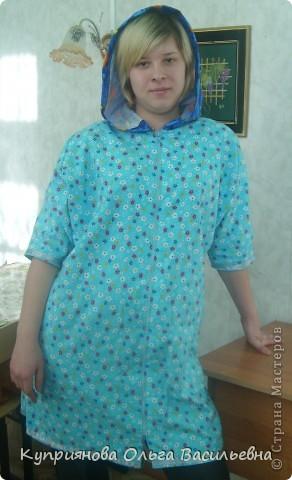Самый красивый халат для Ани тот, что она сшила сама на уроках технологии.