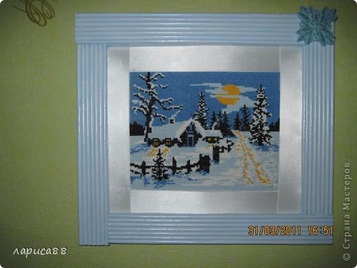 Такую картину вышила еще зимой, и вот наконец оформила. фото 2
