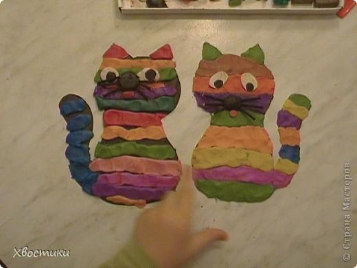 Вчера сотворили с сыночком благодаря идее Сандальки http://stranamasterov.ru/node/109062?c=favorite, (за что ей наша благодарность) вот таких котиков. Знакомьтесь: слева Мурытик (Тимофейкин котик, имя придумал тоже сам, как понимаете), справа - мой - Полосатик. фото 9