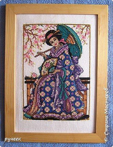"""""""цветет сакура"""" все эти работы я выполнила примерно лет пять назад по схемам из журнала ВК  фото 1"""