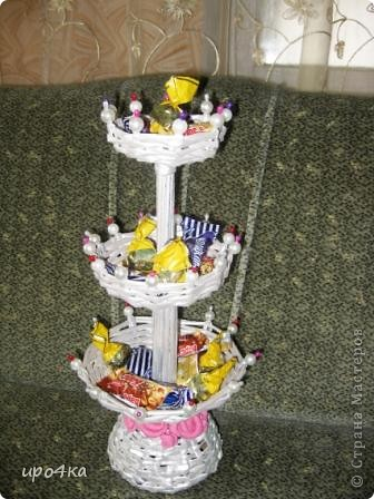 Вот соорудила конфетницу- фруктовницу фото 2