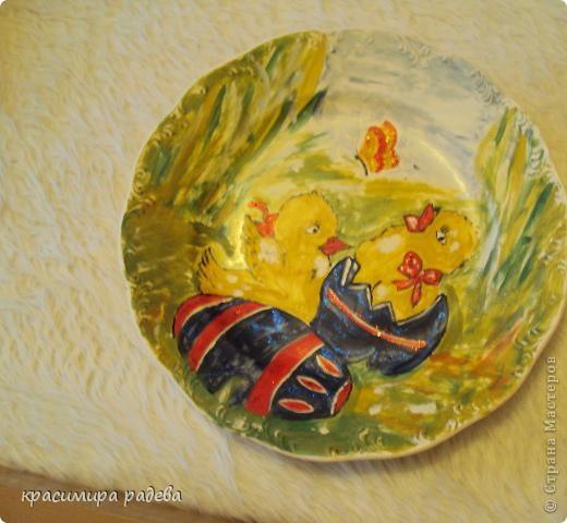 Подготовката за Великден продължава.Това са рисувани чинии с Великденски мотиви. фото 2